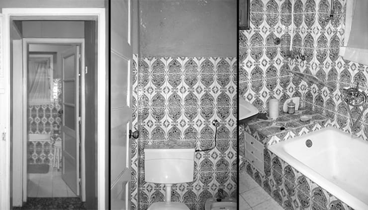 Instalação sanitária - Antes:   por Atelier da Calçada