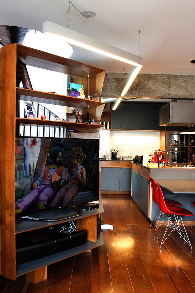Apartamento Klabin: Salas de estar modernas por ODVO Arquitetura e Urbanismo