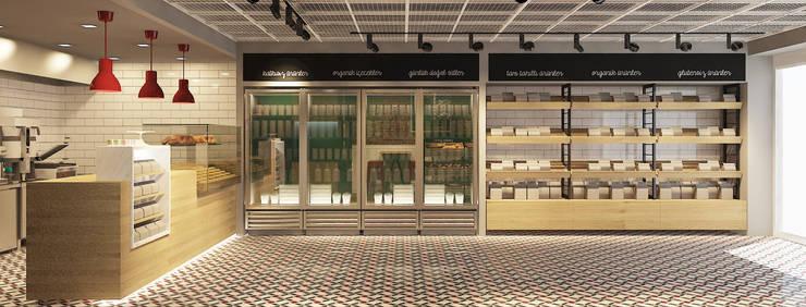 monoblok design & interiors – Bakery Consept Project:  tarz Dükkânlar, Endüstriyel