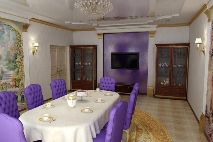 Дизайн столовой в классическом стиле: Столовые комнаты в . Автор – Дизайн студия 'Exmod' Павел Цунев