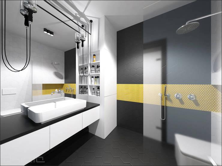 Brzeska: styl , w kategorii Łazienka zaprojektowany przez OHlala Wnętrza