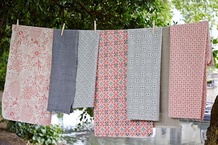 ​Cotton and linen hand screen printed fabrics:  Household by akin & suri