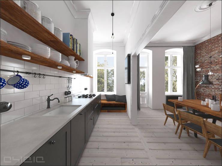 Kamienica 110: styl , w kategorii Kuchnia zaprojektowany przez OHlala Wnętrza