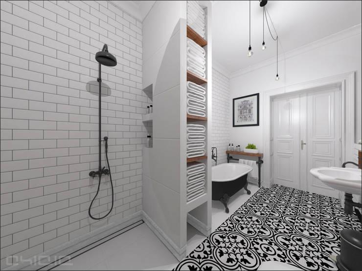 Kamienica 110: styl , w kategorii Łazienka zaprojektowany przez OHlala Wnętrza