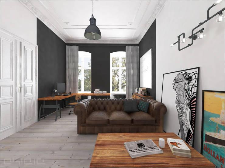 Kamienica 110: styl , w kategorii Salon zaprojektowany przez OHlala Wnętrza