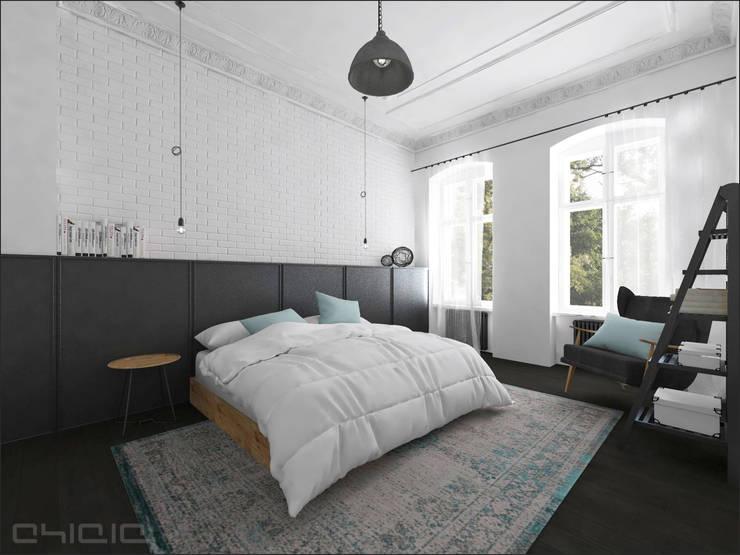 Kamienica 110: styl , w kategorii Sypialnia zaprojektowany przez OHlala Wnętrza
