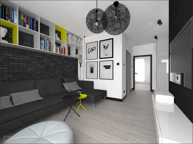 Brzeska: styl , w kategorii Salon zaprojektowany przez OHlala Wnętrza