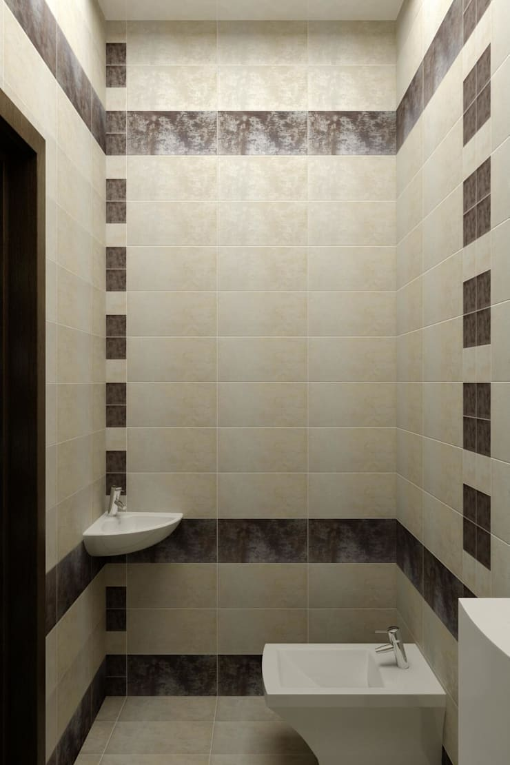 Дизайн санузла.: Ванные комнаты в . Автор – Дизайн студия 'Exmod' Павел Цунев