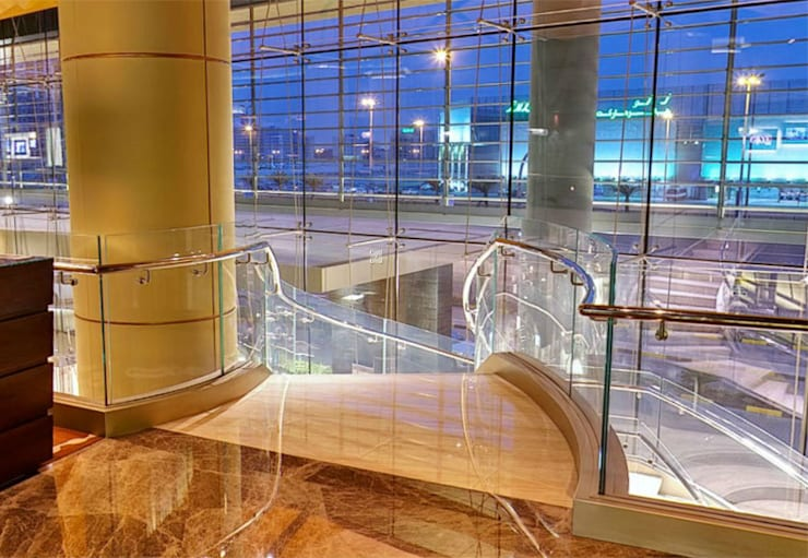 Curved glass balustrade at Kempinski Hotel, Bahrain :  Hotels by Ion Glass