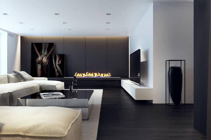 BB APARTAMENT: styl , w kategorii Salon zaprojektowany przez KUOO ARCHITECTS