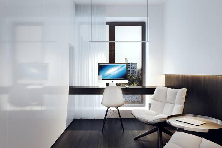BB APARTAMENT: styl , w kategorii Domowe biuro i gabinet zaprojektowany przez KUOO ARCHITECTS