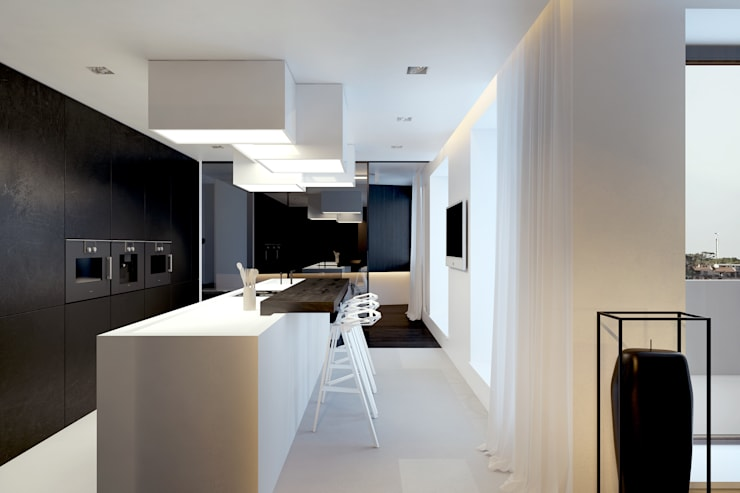 BB APARTAMENT: styl , w kategorii Kuchnia zaprojektowany przez KUOO ARCHITECTS