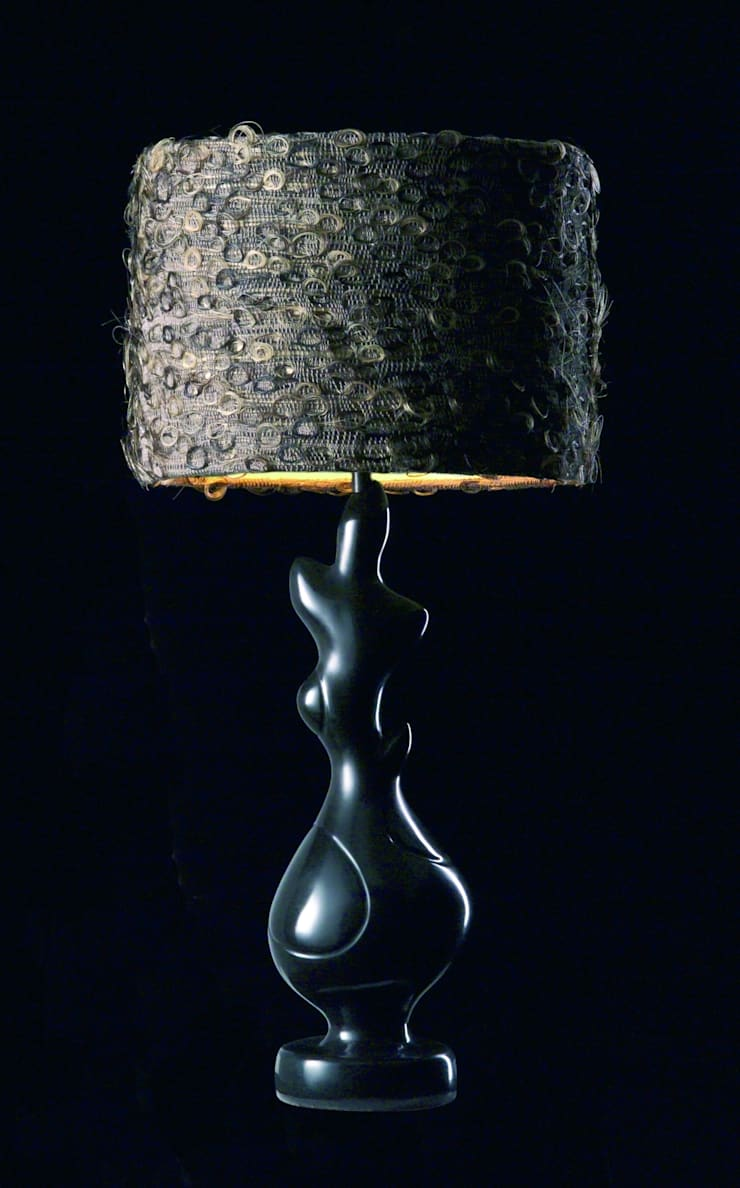 Horsehair drum lampshade:  Living room by A Shade Above