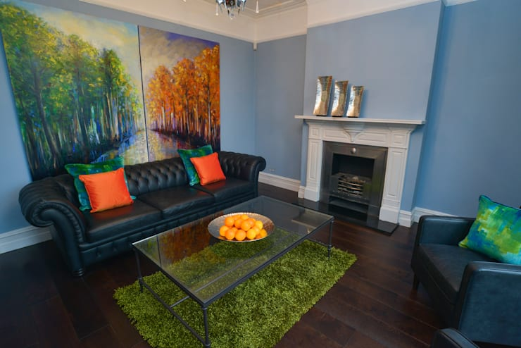 Living Room:  Living room by Cathy Phillips & Co