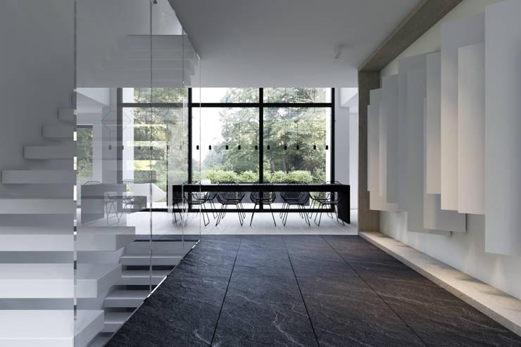 Corridor and hallway by KUOO ARCHITECTS,