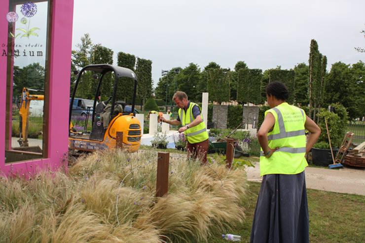 2012 햄튼코트팔라스플라워쇼: Garden Studio Allium의  전시장,