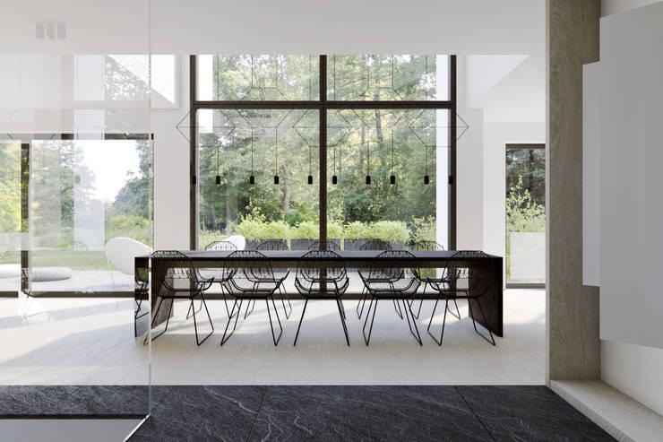 DOM W LUXEMBURGU: styl , w kategorii Jadalnia zaprojektowany przez KUOO ARCHITECTS