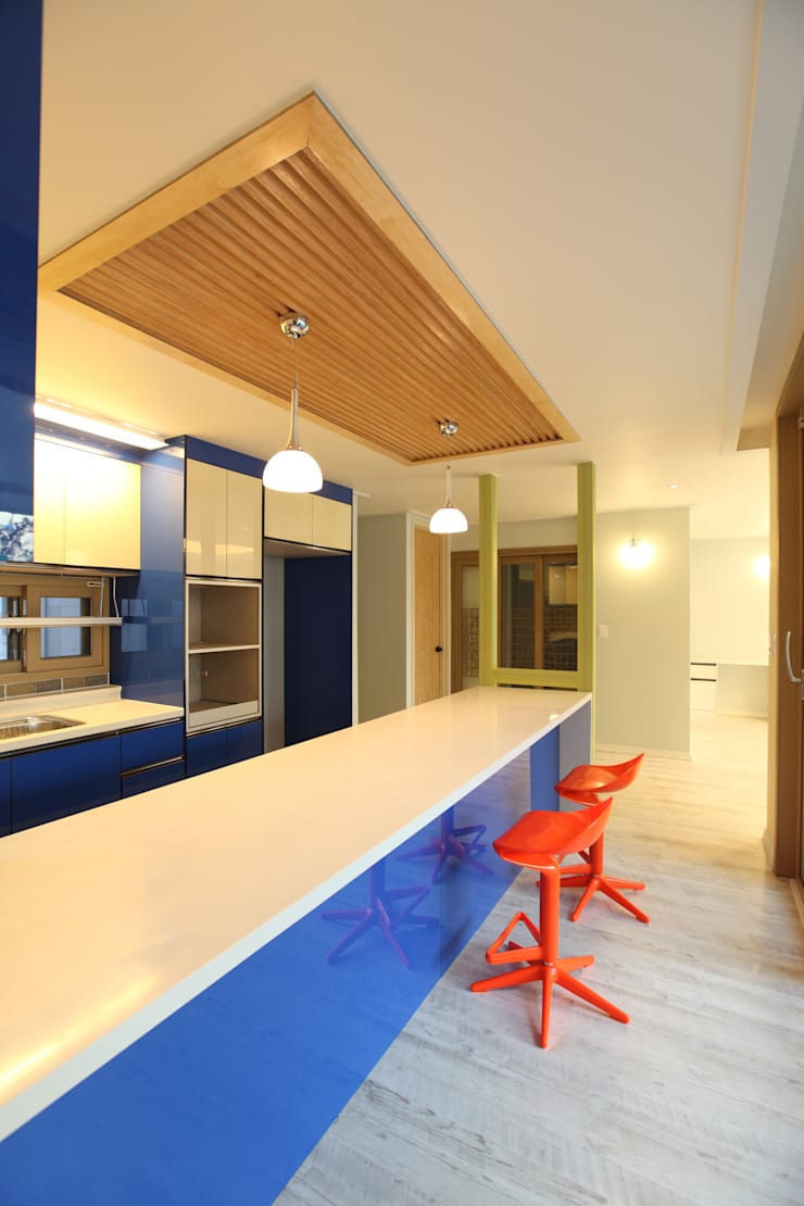 하남주택의 주방: 주택설계전문 디자인그룹 홈스타일토토의  주방