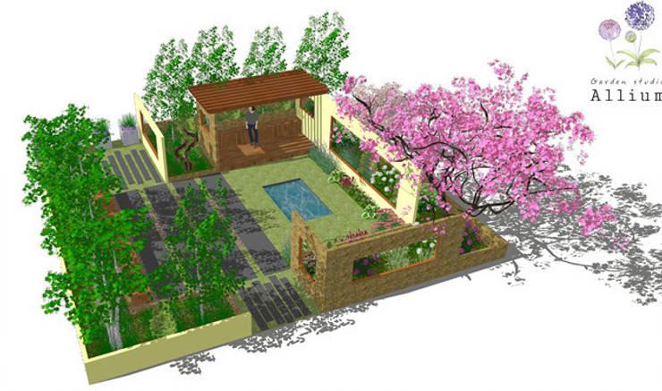 2014 경기정원문화 박람회 제안서: Garden Studio Allium의  정원,모던