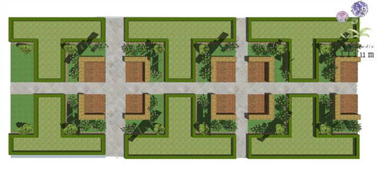 화성동탄2신도시 푸르지오: Garden Studio Allium의  정원