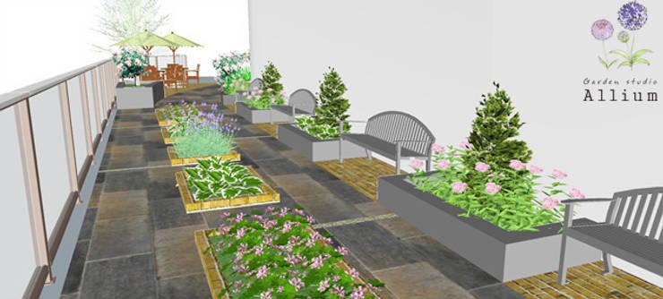 북한산 푸르지오: Garden Studio Allium의  정원
