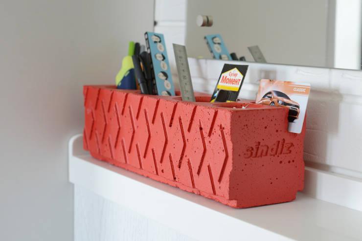 Органайзер / карандашница из бетона Archiboss: Гостиная в . Автор – Owner /designer