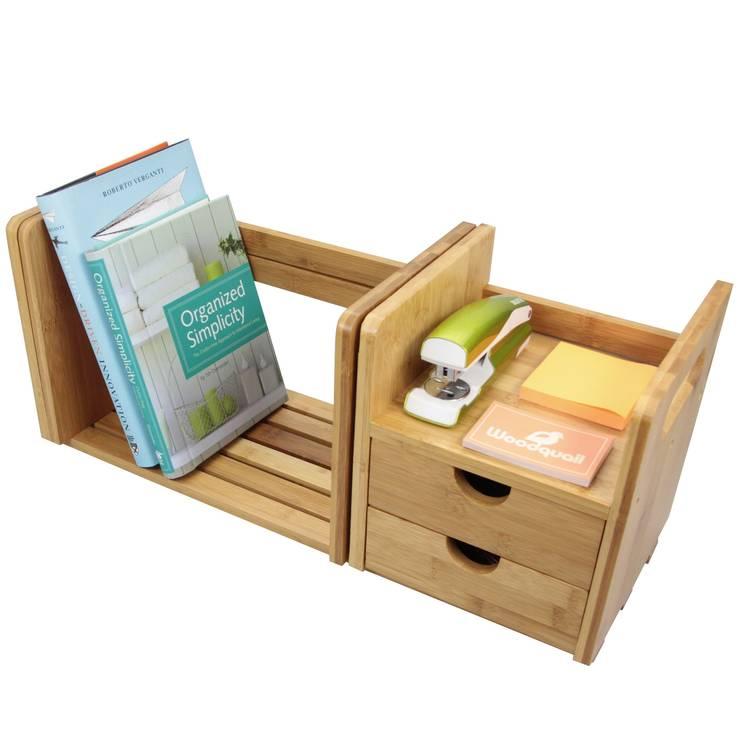 Expandable Bookshelf with Drawers:  Living room by Finoak LTD