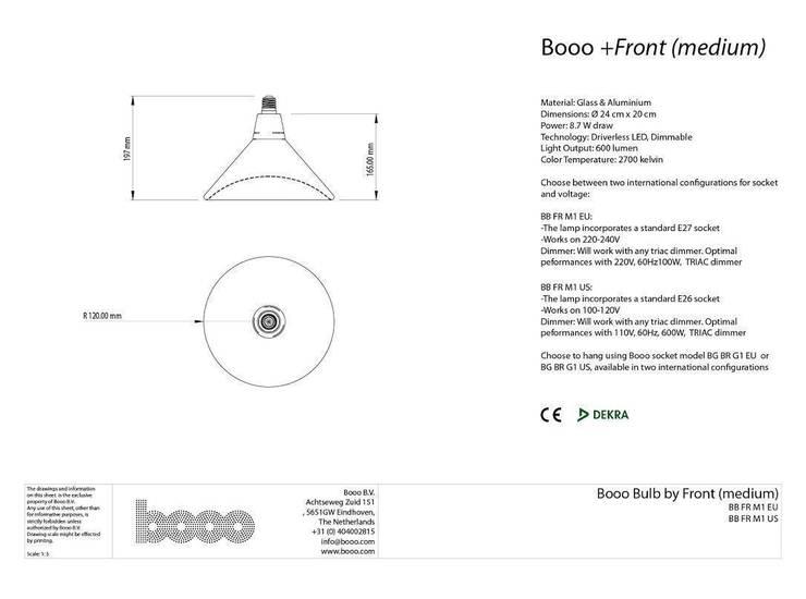 Specsheet of the medium sized lamp:   door Booo BV