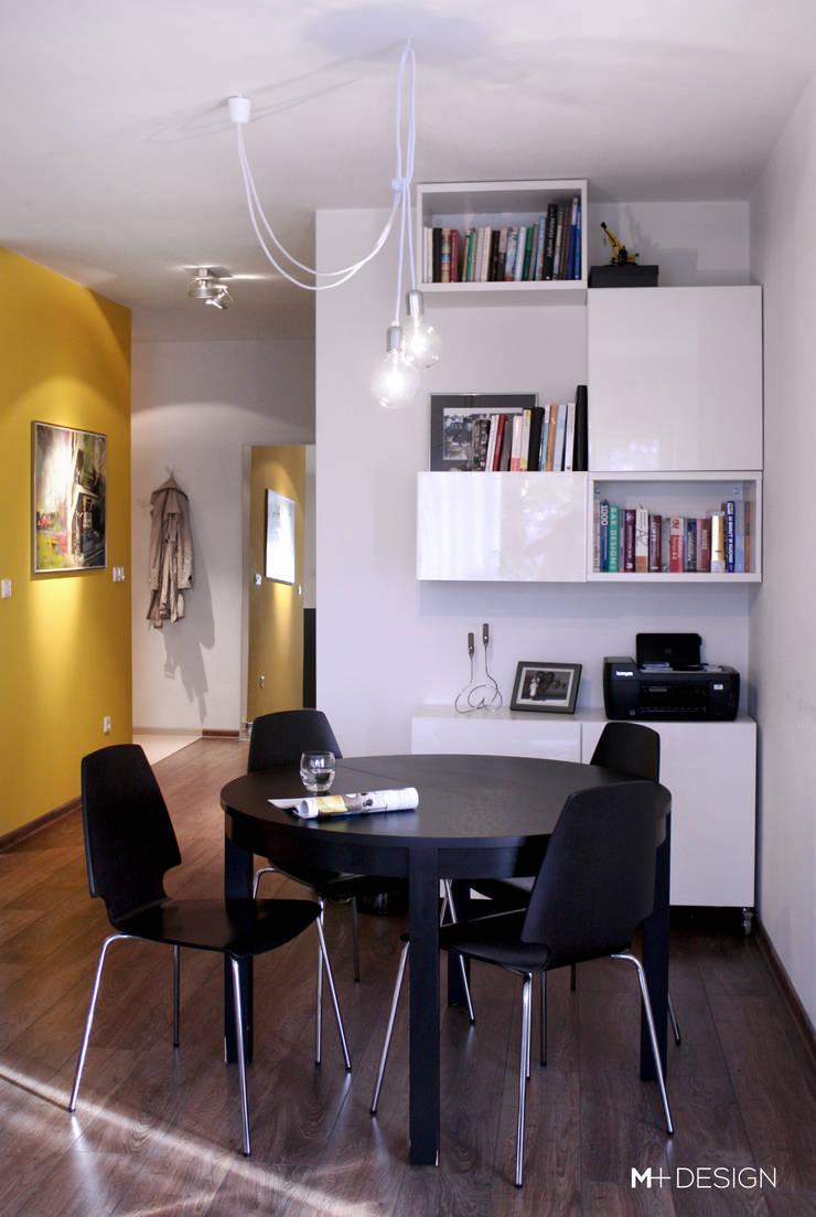Mieszkanie 64m2: styl , w kategorii Jadalnia zaprojektowany przez M+ DESIGN Marta Dolnicka Marchaj,Minimalistyczny