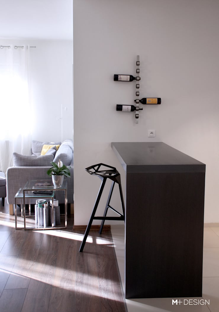 Mieszkanie 64m2: styl , w kategorii Kuchnia zaprojektowany przez M+ DESIGN Marta Dolnicka Marchaj,Minimalistyczny