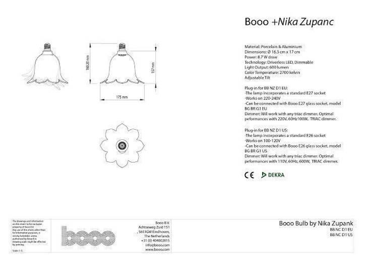 The specsheet of Nika Zupanc's lamp:   door Booo BV