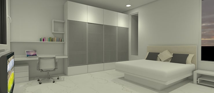 Farm House For Mr. Mehta:  Bedroom by Neotecture