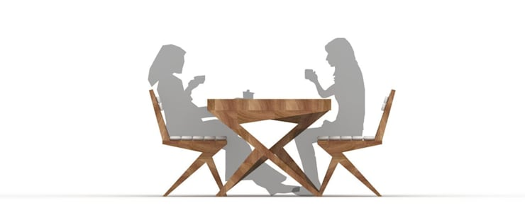 Cris Cross Dining Set:  Dining room by Neotecture