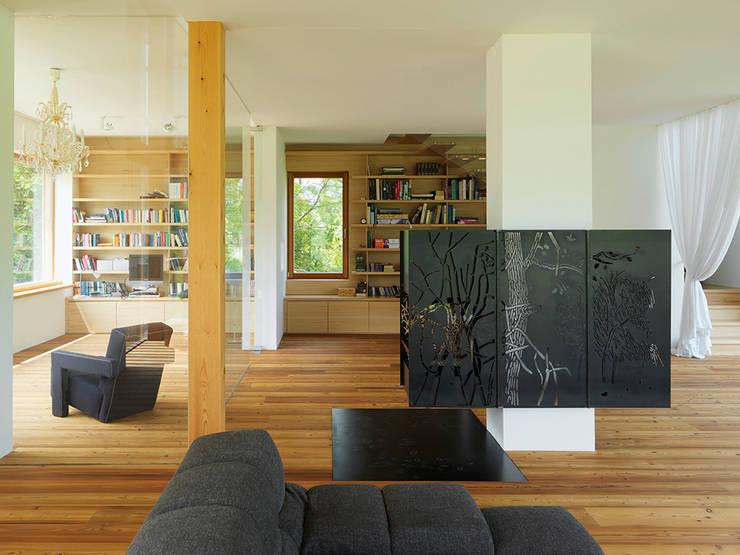 haus m, Bad Aussee:  Wohnzimmer von Hohensinn Architektur