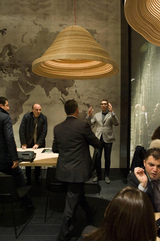 Twisted Light Poliform stand Salone Del Mobile 2012:  Gastronomie door Studio Erwin Zwiers
