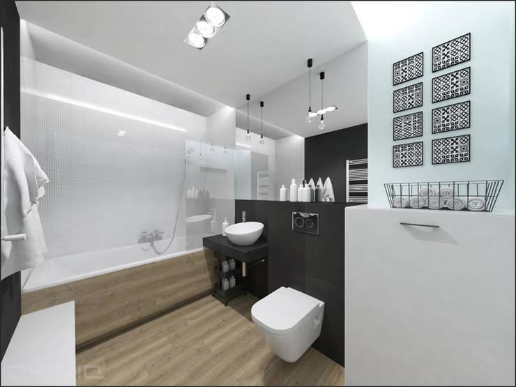 Złotniki: styl , w kategorii Łazienka zaprojektowany przez OHlala Wnętrza