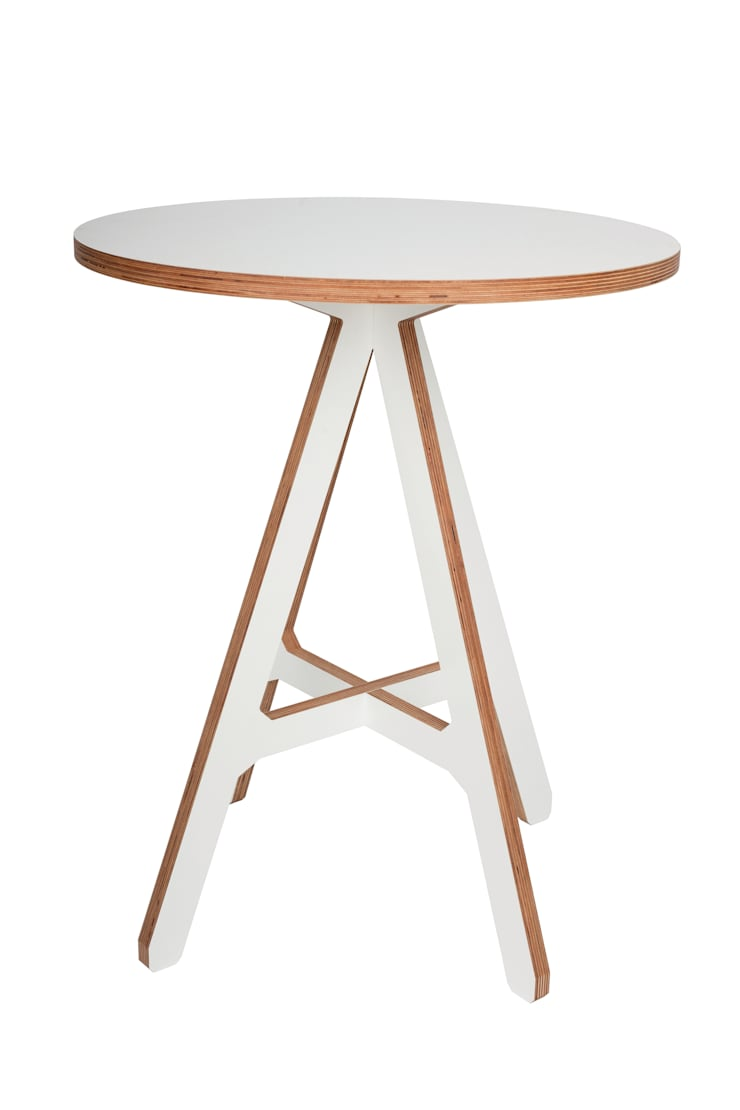 byALEX - 'A' Side Table in White:  Living room by Edited