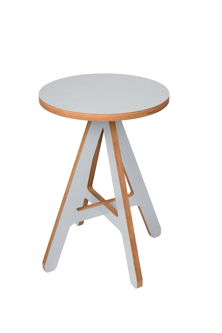 byALEX - 'A' Stool in Grey:  Living room by Edited