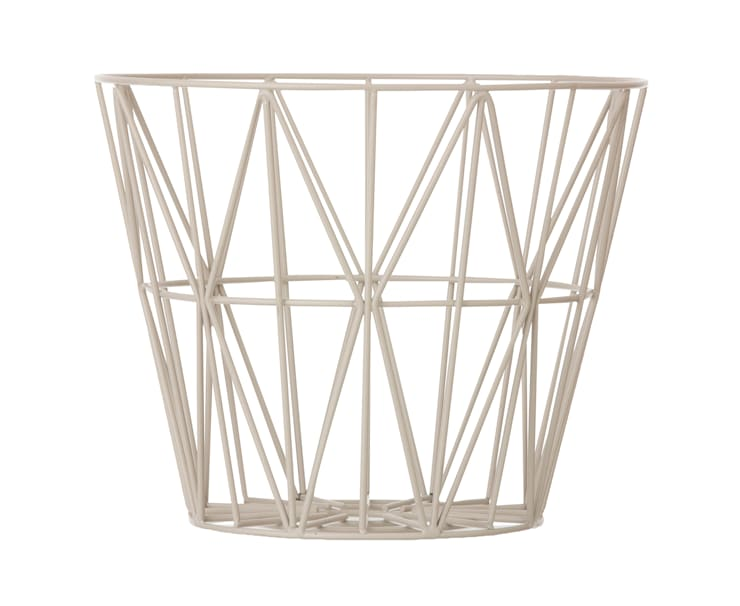 Wire Basket in Grey:  Household by Edited