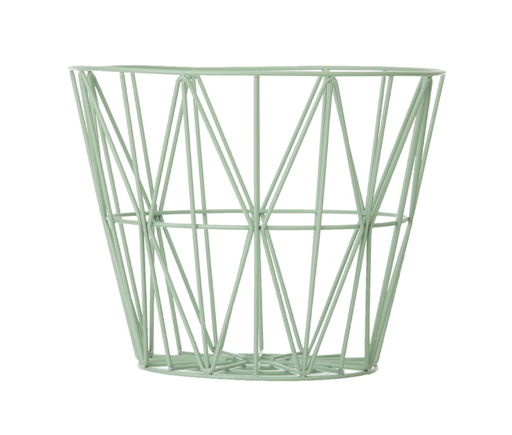 Wire Basket in Mint:  Household by Edited