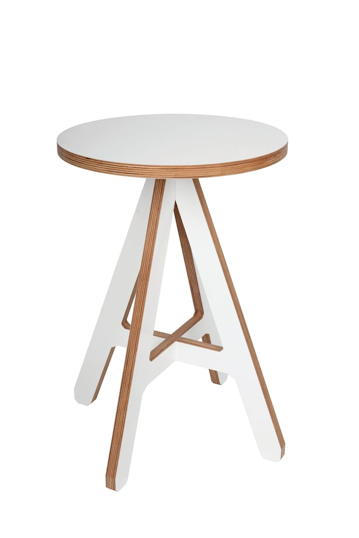 byALEX - 'A' Stool in White:  Living room by Edited