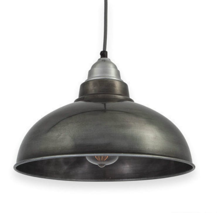 Handmade Industrial Pewter Pendant Light:  Kitchen by NuCasa