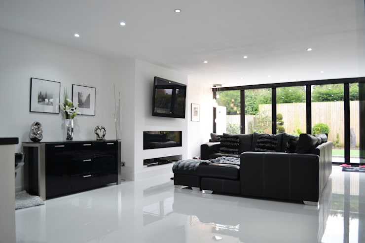 Main Living Room - As Built:  Living room by Arc 3 Architects & Chartered Surveyors