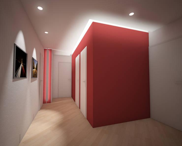 Projekty,  Korytarz, przedpokój zaprojektowane przez Giordana Arcesilai