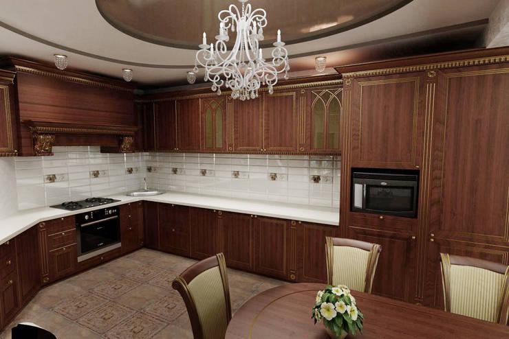 Классическая кухня. Дизайн проект.: Кухни в . Автор – Дизайн студия 'Exmod' Павел Цунев