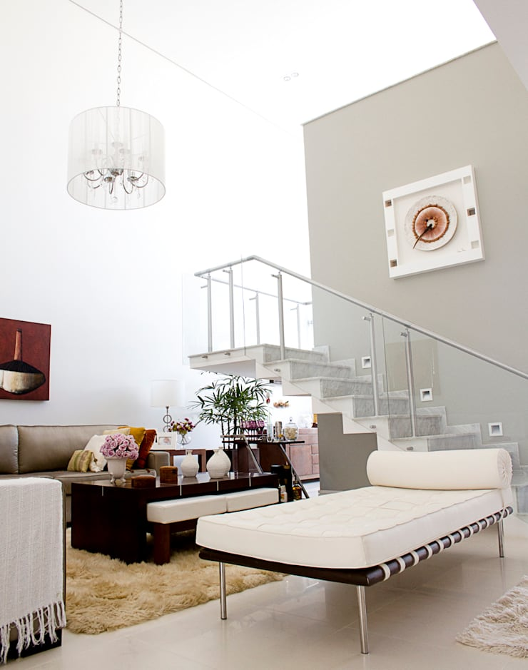 Sala de Estar: Salas de estar modernas por HAUS