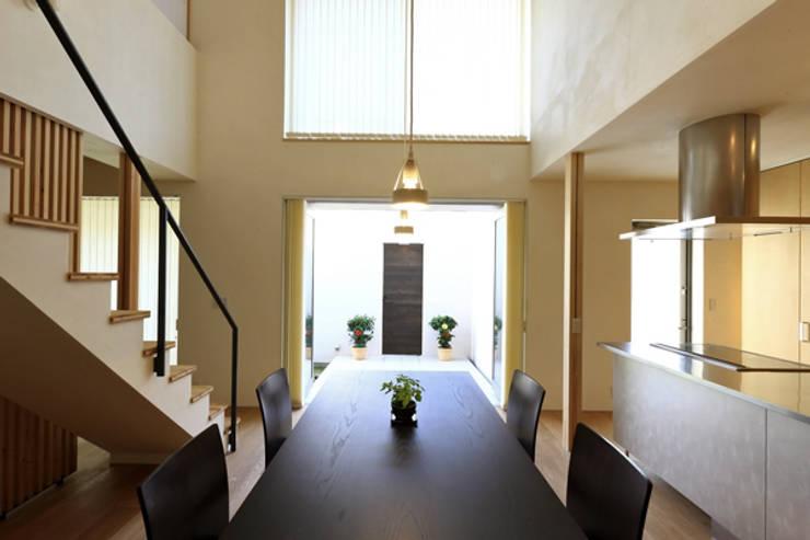 キッチンの家 ダイニングキッチン: アーキシップス古前建築設計事務所が手掛けたダイニングです。