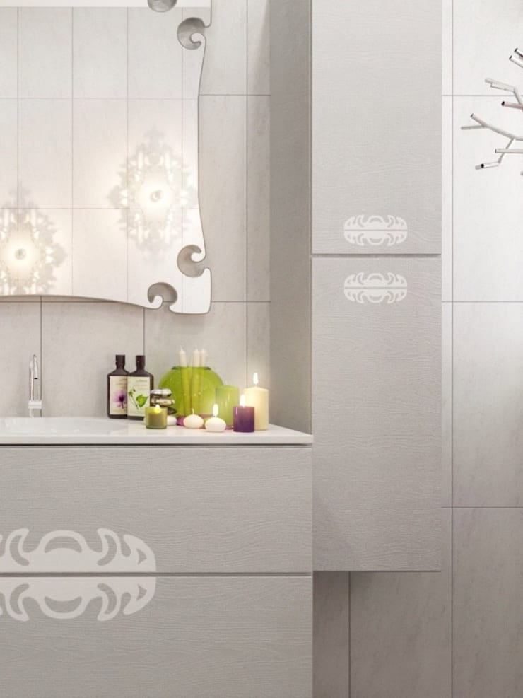 зеркало кружевное : Ванная комната в . Автор – pashchak design