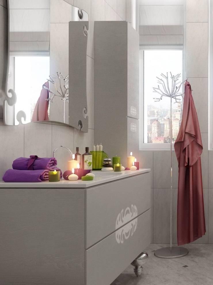 Светлая ванная комната : Ванная комната в . Автор – pashchak design