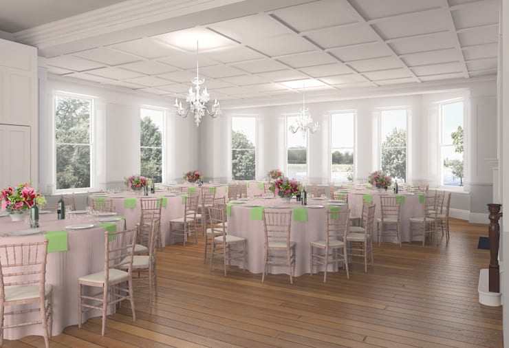 Ballroom:  Event venues by Bright Green Design